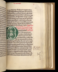 Decorated Initial, In St. Gregory of Nazianzus' 'Eight Orations' f.74r